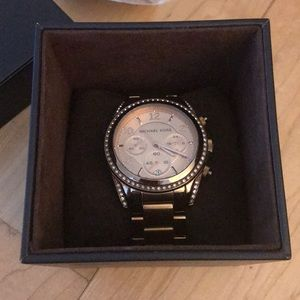 Michael Kors Rose Gold with Crystals Watch